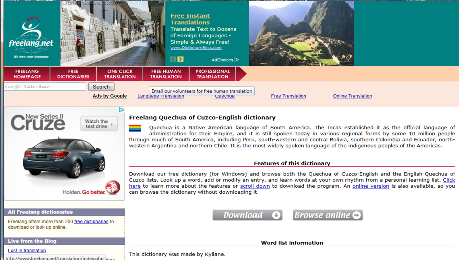 Foreignwordcom  The Language Site Online dictionaries